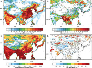 Air Pollution and Weather Interaction in East Asia